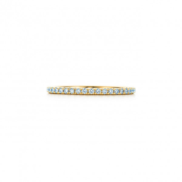 Кольцо Tiffany Metro, желтое золото, бриллианты (22417061)