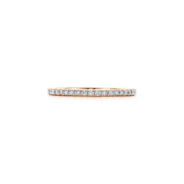 Кольцо Tiffany Metro, розовое золото, бриллианты (22416731)