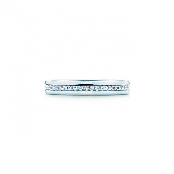 Кольцо Tiffany Metro, белое золото, бриллианты (26232732)