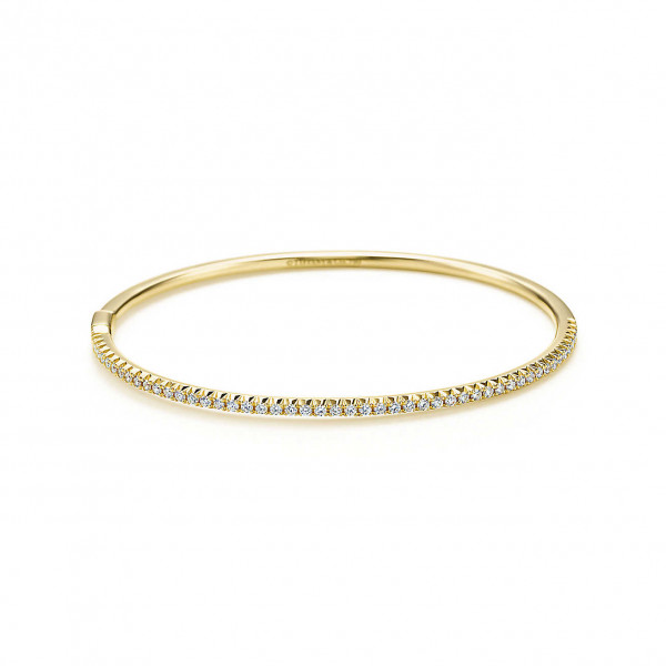 Шарнирный браслет Tiffany Metro, желтое золото, бриллианты (28019351)