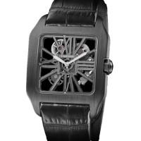 Cartier watches Santos-Dumont `Carbon` Skeleton