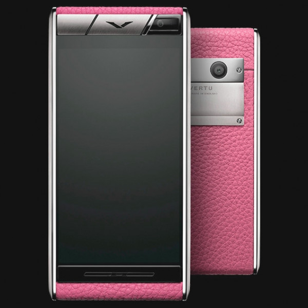 Vertu Aster Spring Colors, титан, кожа розового цвета