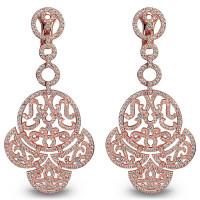Серьги Jacob & Co. Lace, розовое золото 750, бриллианты