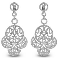 Серьги Jacob & Co. Lace, белое золото 750, бриллианты