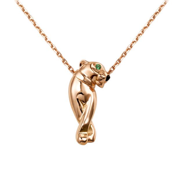 Колье Cartier Panthere de Cartier, розовое золото, черный лак, гранаты