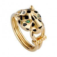 Кольцо Cartier Panthere de Cartier, желтое золото, бриллианты