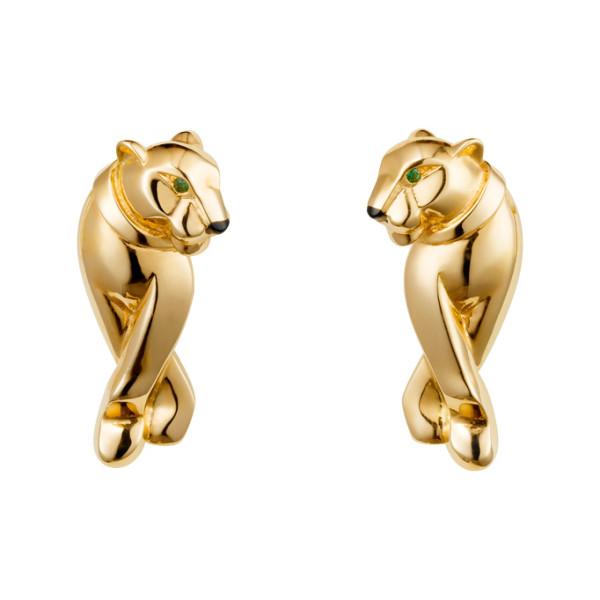 Серьги Cartier Panthere de Cartier, желтое золото, гранат