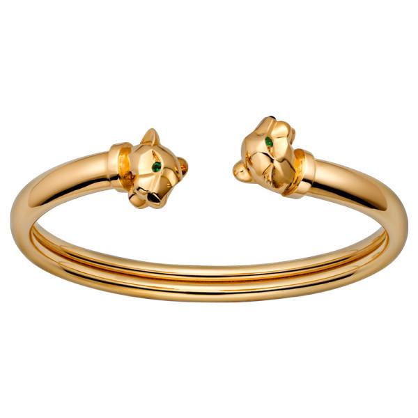 Браслет Cartier Panthere de Cartier, желтое золото, гранат, оникс