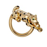 Кольцо Cartier Panthere de Cartier, желтое золото, гранат