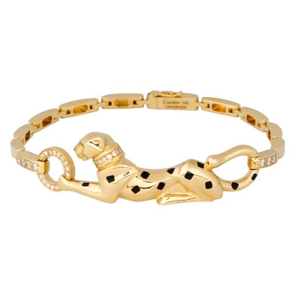 Браслет Cartier Panthere de Cartier, желтое золото, бриллианты