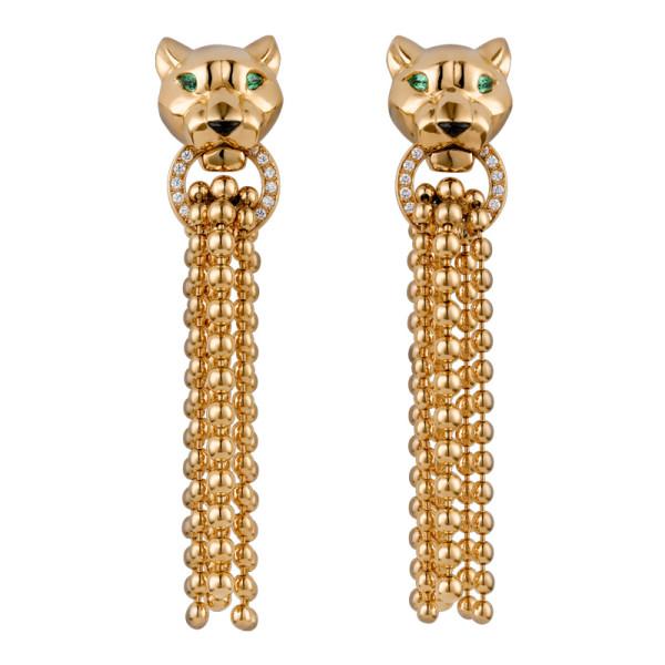 Серьги Cartier Panthere de Cartier, желтое золото, бриллианты