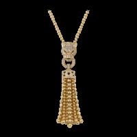 Колье Cartier Panthere de Cartier, желтое золото, изумруды, бриллианты, оникс
