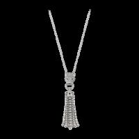 Колье Cartier Panthere de Cartier, белое золото, изумруды, бриллианты, оникс