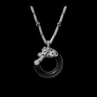 Колье Cartier Panthere de Cartier, белое золото, бриллианты, изумруды, оникс