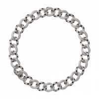 Колье Cartier Panthere de Cartier, белое золото, бриллианты, оникс, изумруды
