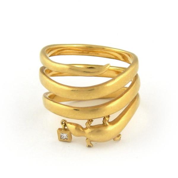 Кольцо Repossi, золото, бриллиант
