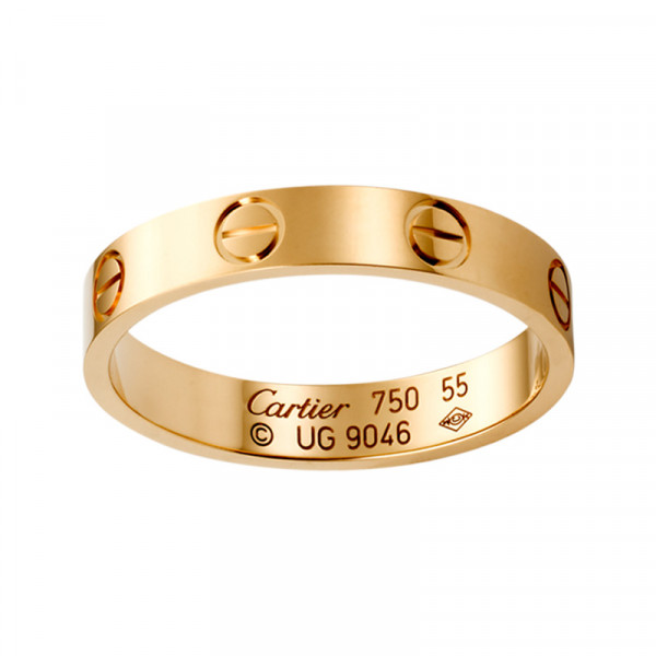 Кольцо Cartier Love, розовое золото