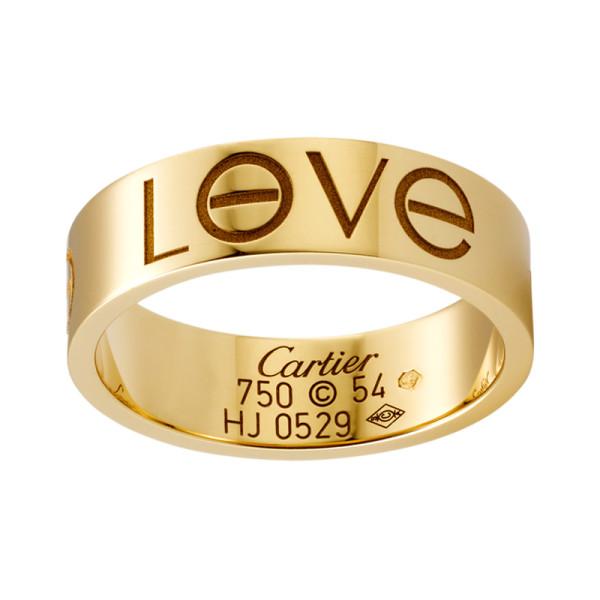 Кольцо Cartier Love, желтое золото