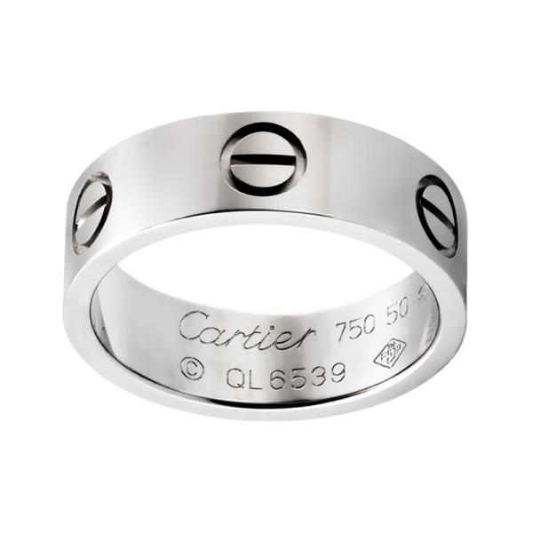 Кольцо Cartier Love, белое золото