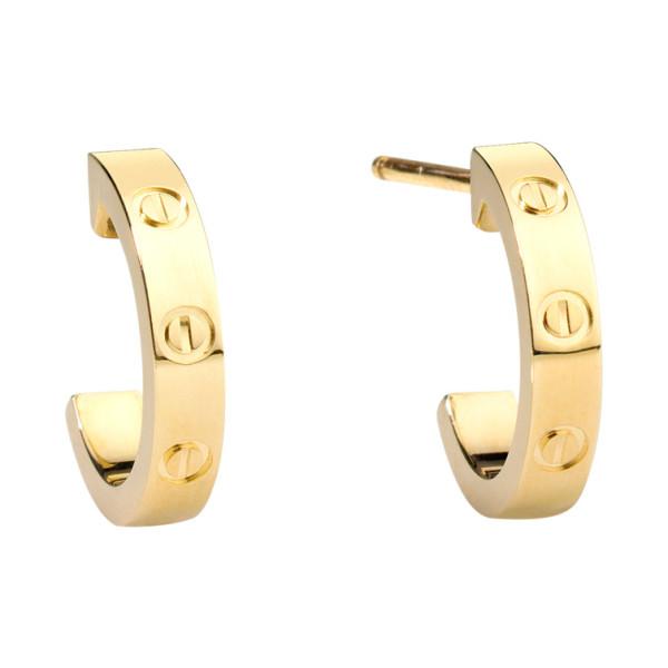 Серьги Cartier Love, желтое золото