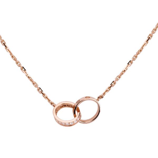 Колье Cartier Love, розовое золото, бриллианты