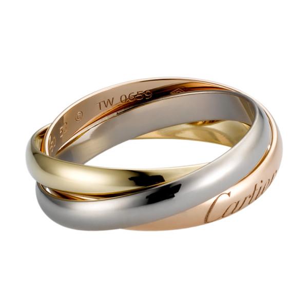 Кольцо Cartier Trinity, золото трех цветов