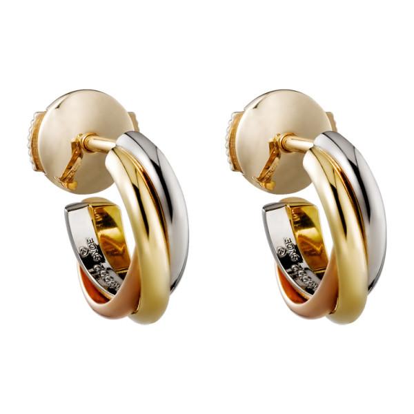 Серьги Cartier Trinity, золото трех цветов