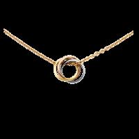 Колье Cartier Trinity, золото трех цветов