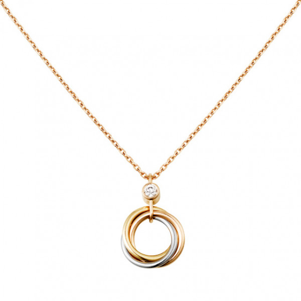 Подвеска Cartier Trinity, золото трех цветов