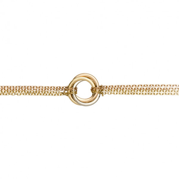 Браслет Cartier Trinity, золото трех цветов