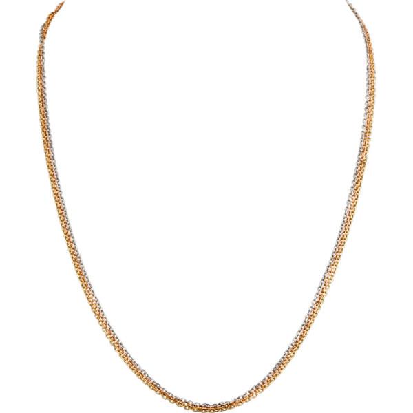 Цепочка Cartier Trinity, золото трех цветов