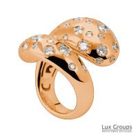 Кольцо de Grisogono Contrario, розовое золото, бриллианты