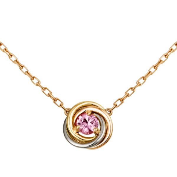 Колье Cartier Trinity, золото трех цветов, сапфир