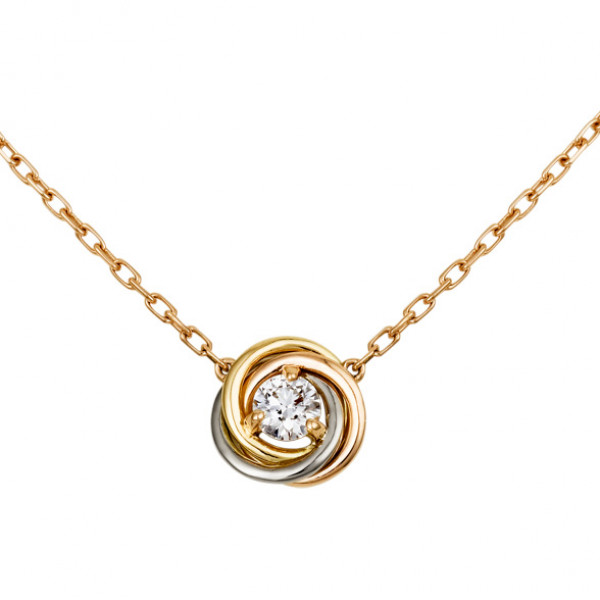 Колье Cartier Trinity, золото трех цветов, бриллиант