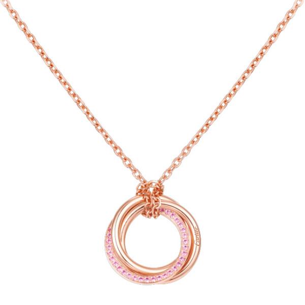Подвеска Cartier Trinity, розовое золото, сапфиры