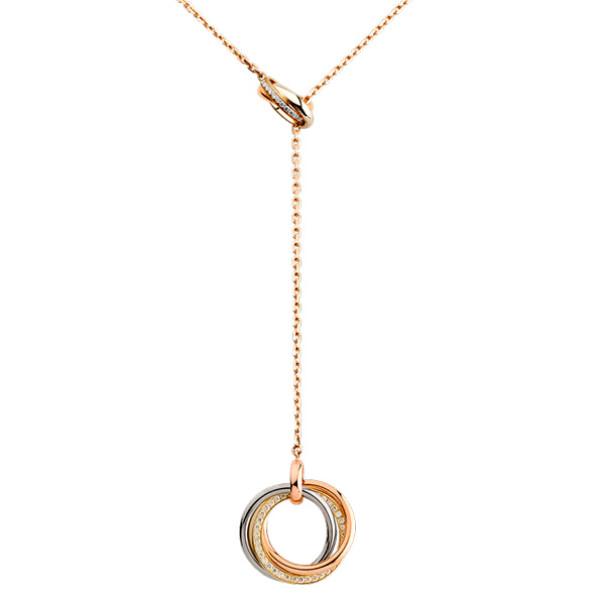 Колье Cartier Trinity, золото трех цветов, бриллианты