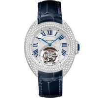 Cle de Cartier, турбийон, белое золото, бриллианты