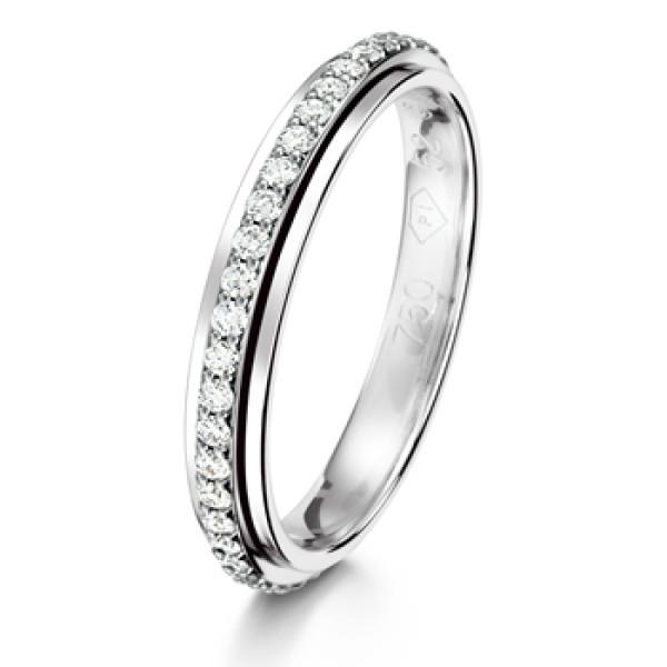 Кольцо Piaget, белое золото, бриллианты