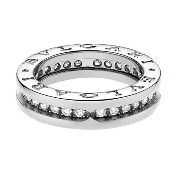 Кольцо Bvlgari B.Zero1, белое золото, бриллианты