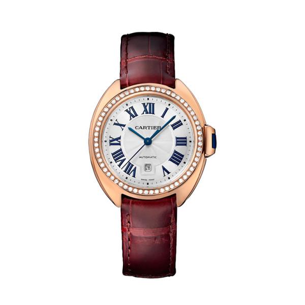 Cle de Cartier, розовое золото, бриллианты, 31 мм