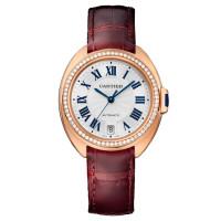 Cle de Cartier, розовое золото, бриллианты, 35 мм