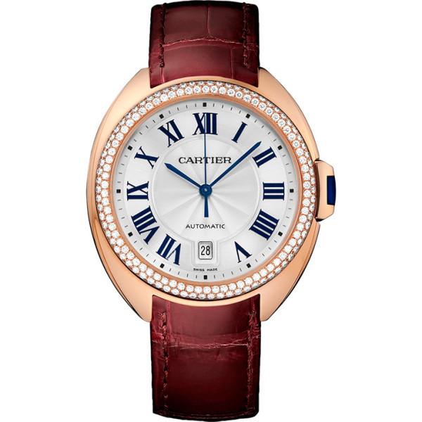 Cle de Cartier, розовое золото, бриллианты, 40 мм