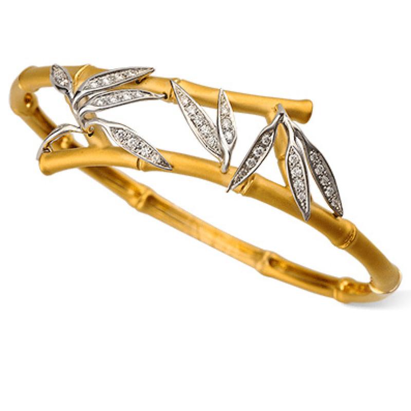 Браслет Carrera y Carrera Bambu, белое, желтое золото, бриллианты