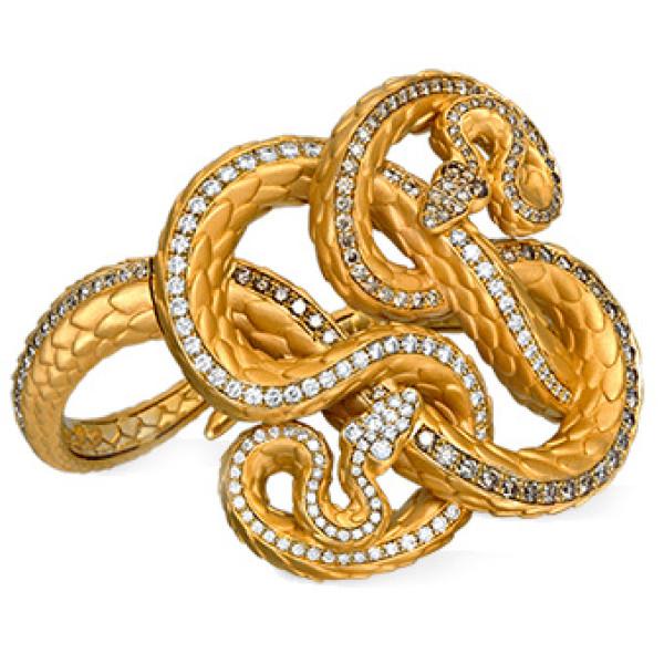 Браслет Carrera y Carrera Bestiario Serpiente, желтое золото, бриллианты, рубины