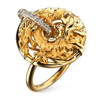 Кольцо Carrera y Carrera Circulos de Fuego Shanghai, желтое, белое золото, бриллианты