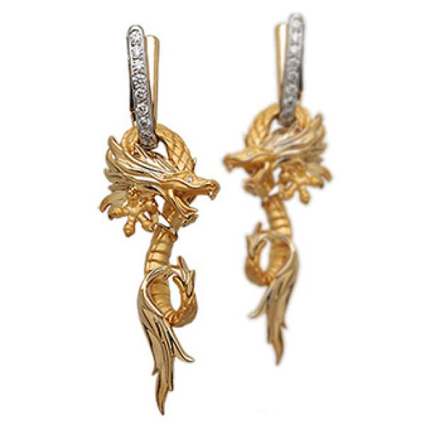 Серьги Carrera y Carrera Circulos de Fuego, белое, желтое золото, бриллианты