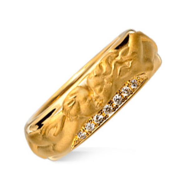 Кольцо Carrera y Carrera Clasicos Promesa, желтое золото, бриллианты