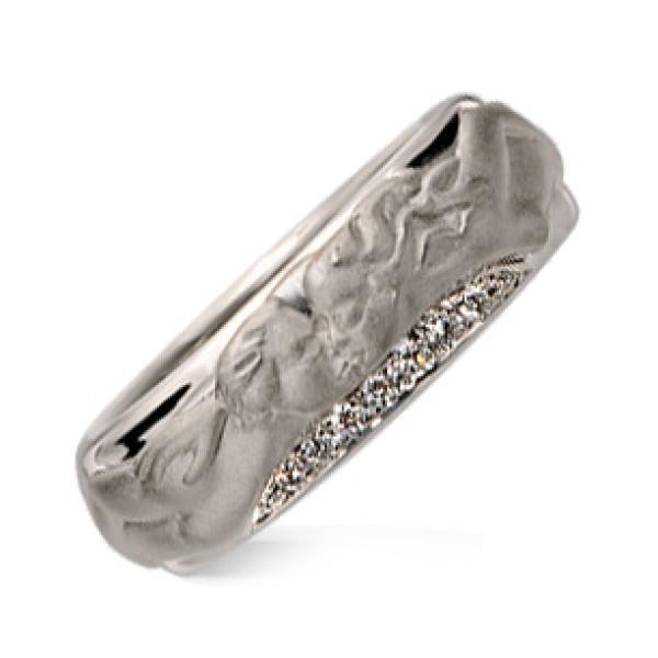 Кольцо Carrera y Carrera Clasicos Promesa, белое золото, бриллианты