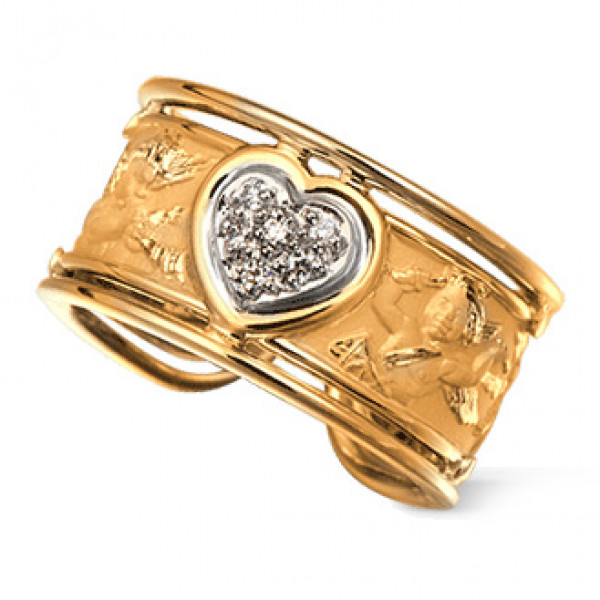 Кольцо Carrera y Carrera Clasicos Ronda, желтое золото, бриллианты