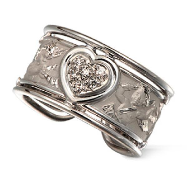 Кольцо Carrera y Carrera Clasicos Ronda, белое золото, бриллианты
